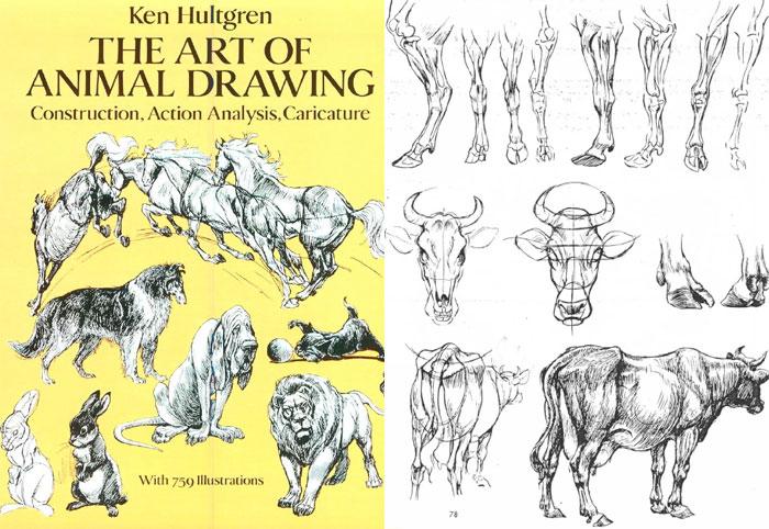 L'art du dessin des animaux- Ken Hultgreen